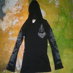 Vocal long sleeve hoodie shirt- size xl